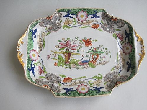 19THC. MASONS IRONSTONE FLOWERPOT AND TABLE PATTERN DISH
