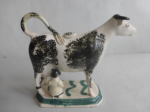 Late 18thc/early 19thc.Staffordshire Pearlware Cow Creamer - Ref # 4616