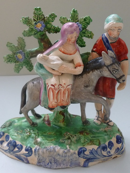 19THC STAFFORDSHIRE PEARLWARE FLIGHT TO EGYPT