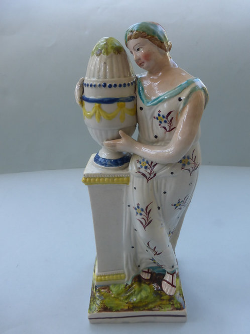 19thc. Staffordshire Pearlware figure CHARLOTTE AT TOMBRef. # 4285