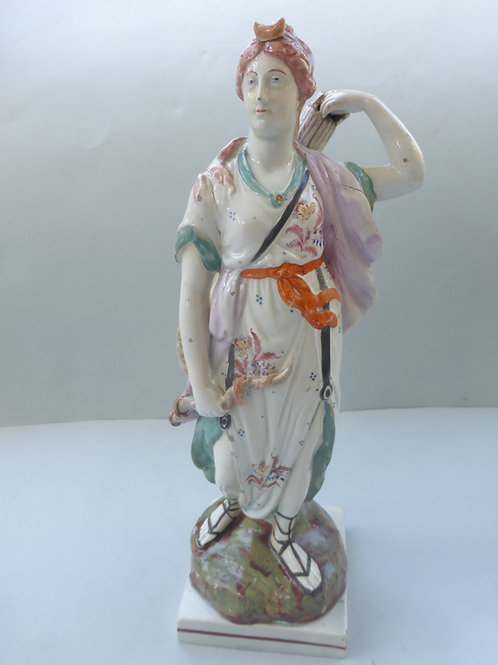 Lare early 19thc. Staffordshire Pearlware figure DIANA Ref. # 4284