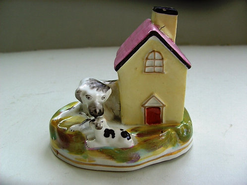 19TH CENTURY STAFFORDSHIRE DOG # 452