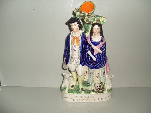 19THC. STAFFORDSHIRE TITLED WELSH SHEPHERDS
