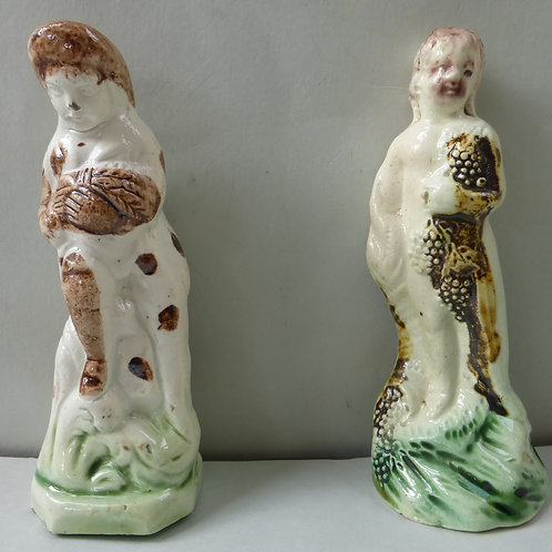LATE 18THC STAFFORDSHIRE PEARLWARE TOY FIGURES
