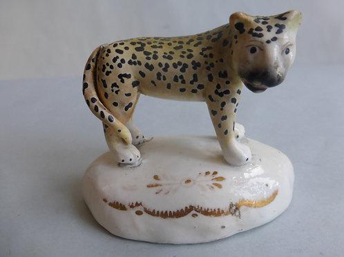 19thc. Staffordshire Porcellanous Leopardess c.1840 Ref # 4381