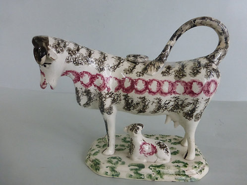 Early 19thc. Pearlware Staffordshire Cow Creamer c.1810