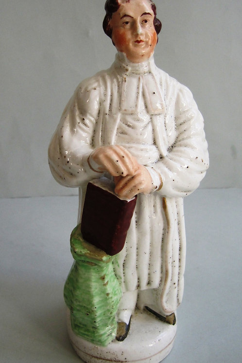 19THC. STAFFORDSHIRE FIGURE OF DR. RAFFLES