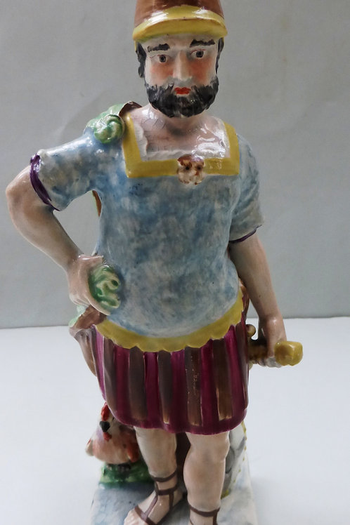 EARLY 19THC PEARLWARE FIGURE TITLED MARS