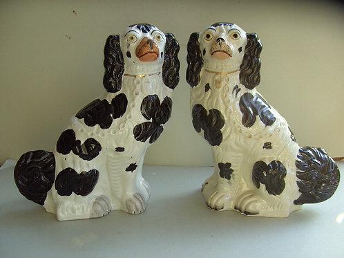 19TH CENTURY STAFFORDSHIRE DOGS # 419