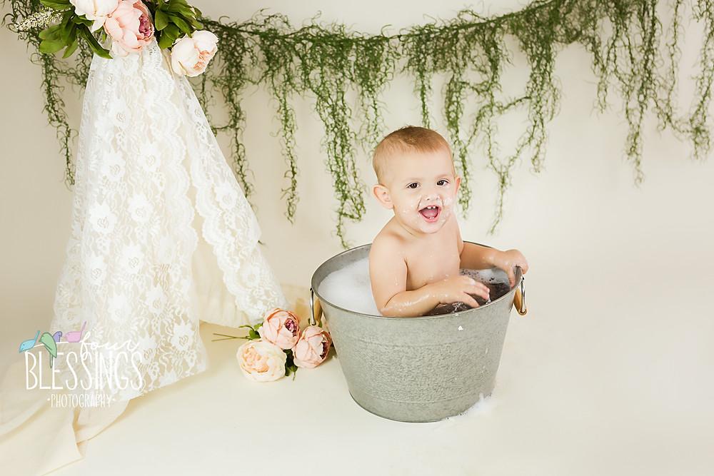 First Birthday Smash & Bath
