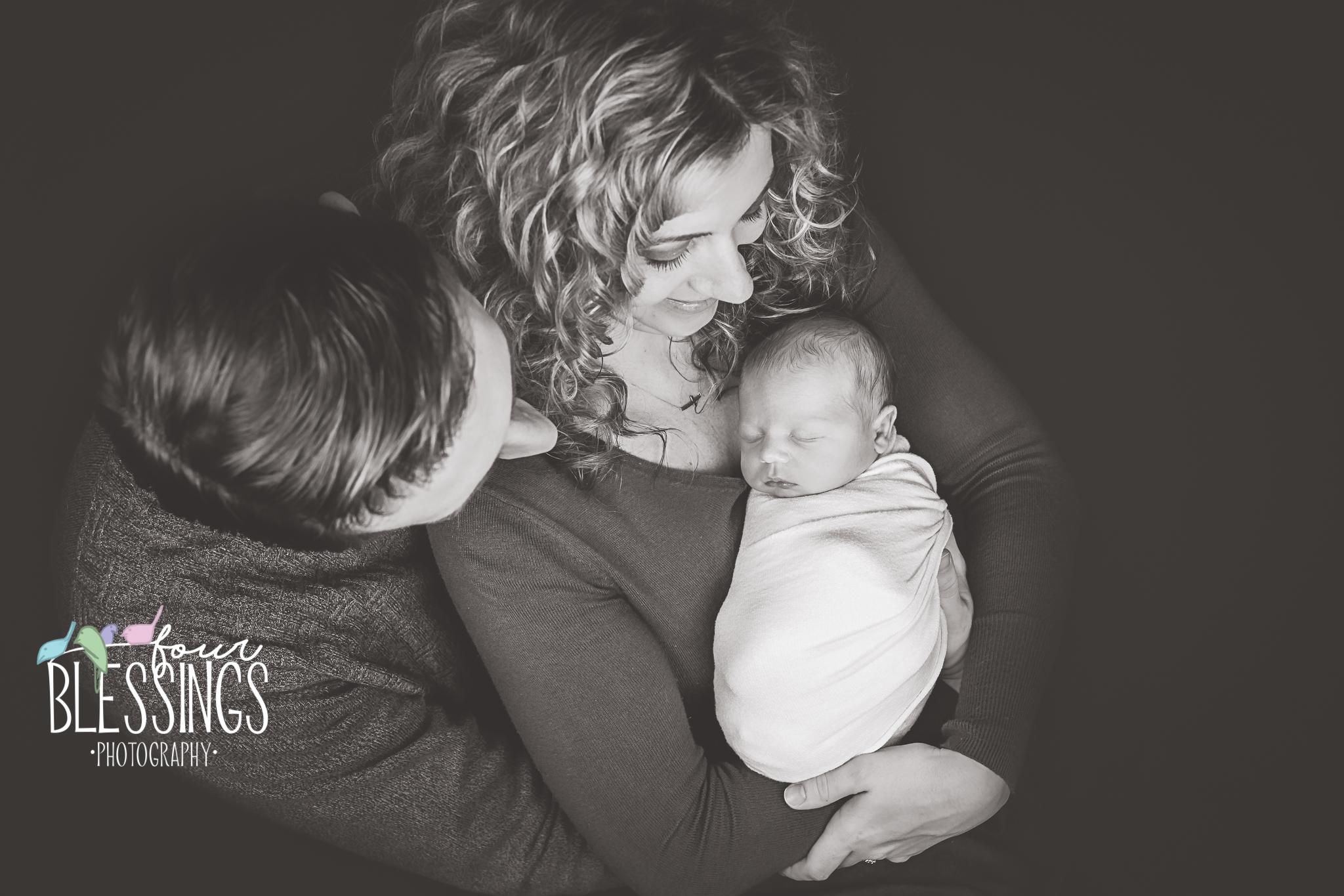 Mom dad and newborn