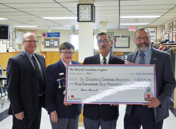 Royal Canadian Legion Donation 2016