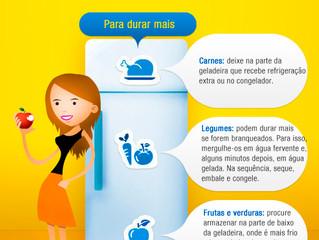 Dicas para os alimentos durarem mais na geladeira