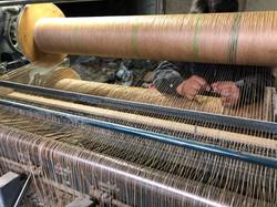 織機の糸替え