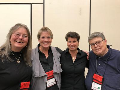 Dorothy Allison, Ann McMan, me,and Elana Dykewomon