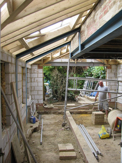 Victorian extension construction