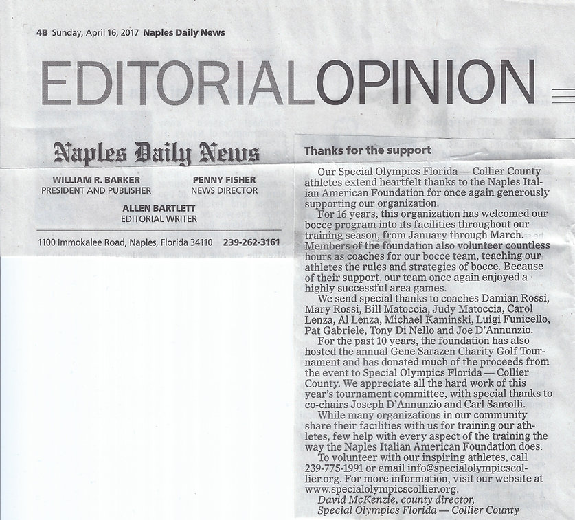 Editorial Opinion Naples Daily News