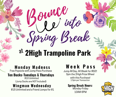 Green and Yellow Spring Break Sale Faceb
