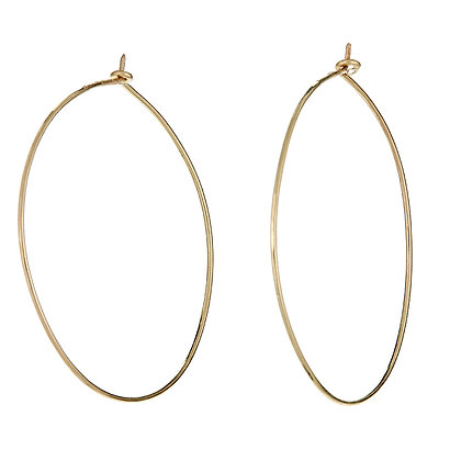 18K GOLD HAMMERED HOOPS