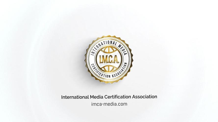 I.M.C.A. - International Meda Certification Association Elegant Glossy Logo Reveal