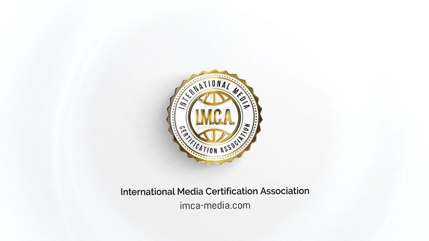 I.M.C.A. - International Meda Certification Association Elegant Glossy Logo Reveal