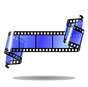 Blue Film Strip Vector PNG. 01.png