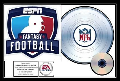 ESPN Fantasy Football League Championship EA Sports - Platinum Award