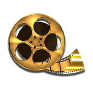 Gold Film Reel PNG..png