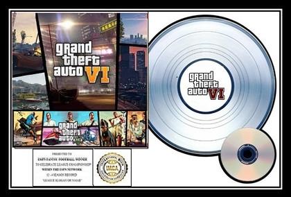 GTA - 6  I.M.C.A. Platinum Award Plaque