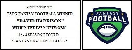 "ESPN ""Fantasy Ballers League"" Championship Engraving"