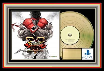 Street Fighter V I Gold PS4 Plaque Award