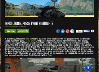 'Tanki Online' Online Press Event
