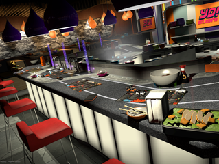 Playrise announce official 'YO! Sushi' themed race track for 'Table Top Racing: World To
