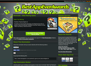 Vote for Table Top Racing in the 'Best App Ever Awards'!