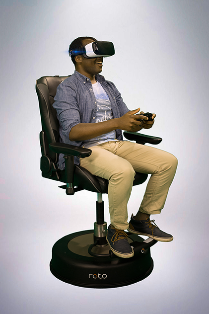 Roto VR Chair with Samsung Gear VR
