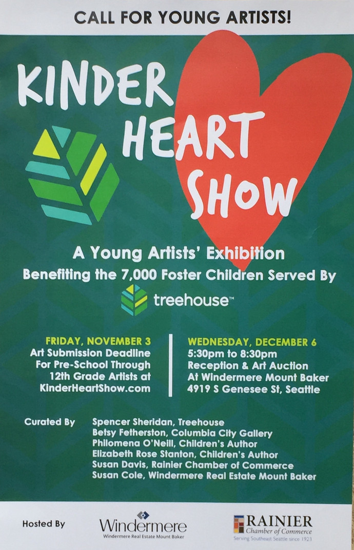 Next month I get to be a judge for the Kinder Heart Show, a children's art exhibition benefittin