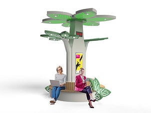 smart bench, solar şarj bank, solar tree,solarvadisi