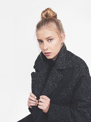 Model in Wool Coat