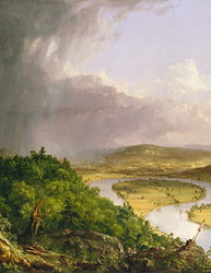 View of Mt. Holyoke (The Oxbow) - Thomas