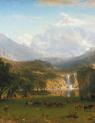 Albert Bierstadt, The Rocky Mountains.jp