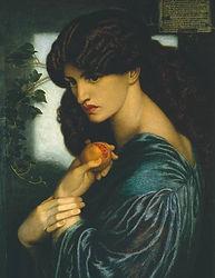 Proserpine (1874). Dante Gabriel Rossett