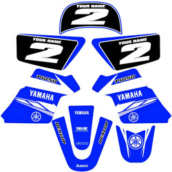 YAMAHA PW 50 PW50 GRAPHICS KIT DECALS DE
