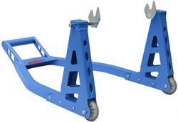 Blue Ruedamann Motorcycle Stand