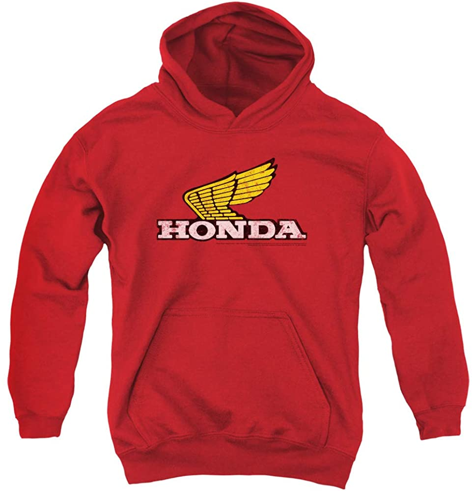 Honda Yellow Wing Logo Unisex Youth Pull