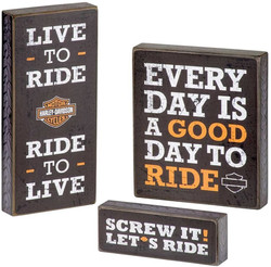 Harley-Davidson Wooden Harley Motto Pub