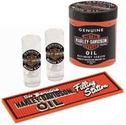 Harley-Davidson Genuine Oil Can Shot Gla