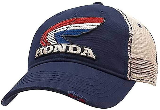 Honda Retro Snapback Hat Blue