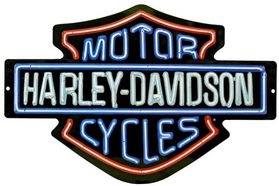 Harley-Davidson Neon Design Embossed Bar