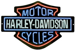Harley-Davidson Neon Design Embossed Bar