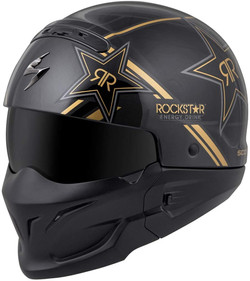 Scorpion Covert Helmet - Rockstar (Large) (Black/Gold)